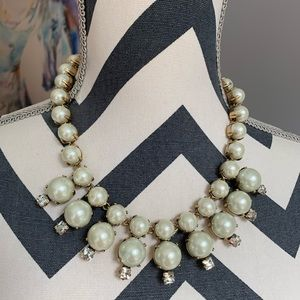 J. Crew Pearl starburst necklace.